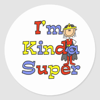 Girl I'm Kinda Super Classic Round Sticker