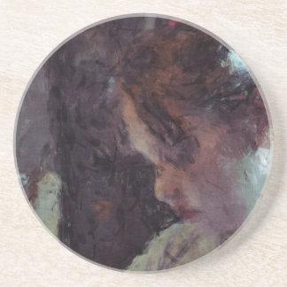 Girl - Impressionist Art by Johannes Krantz Coaster
