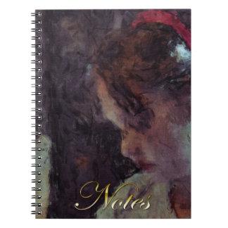 Girl - Impressionist Art by Johannes Krantz Notebook