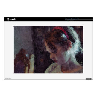 "Girl - Impressionist Art by Johannes Krantz Skin For 15"" Laptop"