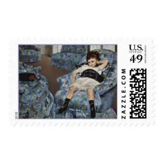 Girl in A Blue Chair, Mary Cassatt Postage Stamps