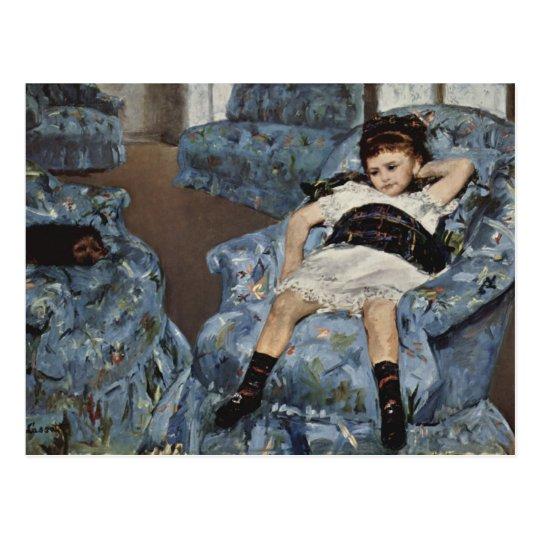 Girl in A Blue Chair, Mary Cassatt Postcard