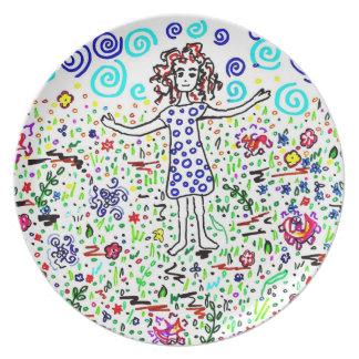Girl in a Field Plate