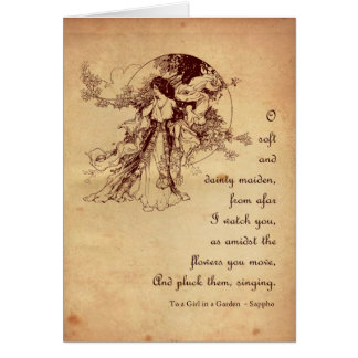 Girl in a Garden Card