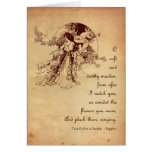Girl in a Garden Valentine Card