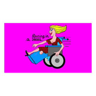 Girl in a Heel needs Wheels Amputee Business Card