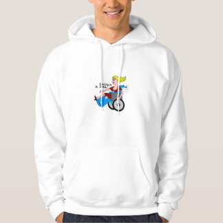 Girl in a Heel needs Wheels Amputee Hoodie