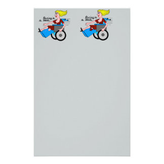 Girl in a Heel needs Wheels Amputee Stationery