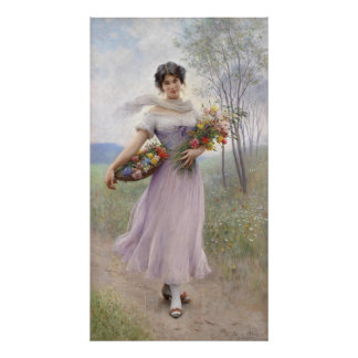 Girl In A Lilac-Coloured Dress - Poster