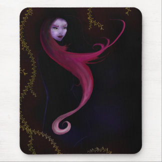 Girl in a Raincoat Mouse Pad