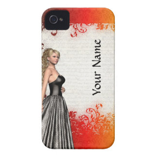 Girl in a silver gray dress iPhone 4 Case-Mate case