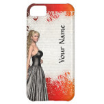 Girl in a silver gray dress iPhone 5C cover
