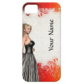 Girl in a silver gray dress iPhone SE/5/5s case