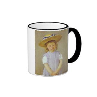 Girl in A Straw Hat Mary Cassatt Mugs
