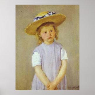 Girl in A Straw Hat, Mary Cassatt Print