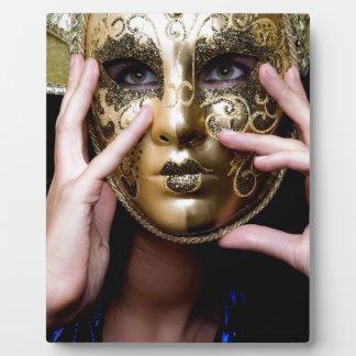 girl in a Venetian mask Plaque