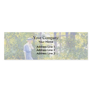 Girl in a Wickford Garden, New England by Guy Rose Double-Sided Mini Business Cards (Pack Of 20)