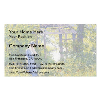 Girl in a Wickford Garden, New England by Guy Rose Double-Sided Standard Business Cards (Pack Of 100)