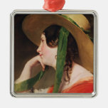 Girl in a Yellow Straw Hat, Christmas Tree Ornament