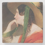 Girl in a Yellow Straw Hat, Stone Beverage Coaster