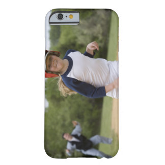 Girl in batting helmet running bases barely there iPhone 6 case