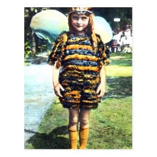Girl in Bee Costume 1920s Postcard