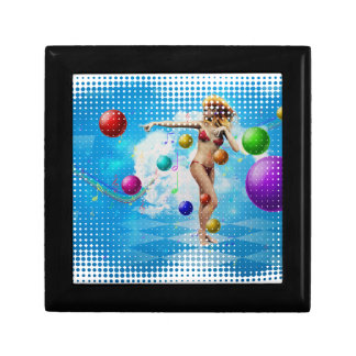 Girl in bikini dancing jewelry box