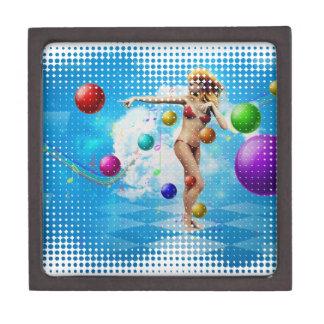 Girl in bikini dancing keepsake box