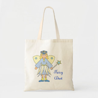 Girl in Blue and Yellow Fairy Costume Budget Tote Bag