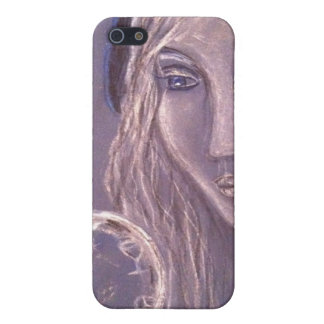 Girl in blue holding a crystal ball iphone cases for iPhone 5