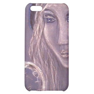 Girl in blue holding a crystal ball iphone iPhone 5C cover