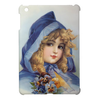 Girl in Blue Hood Case For The iPad Mini