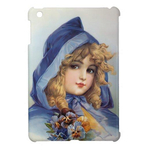 Girl in Blue Hood iPad Mini Cover