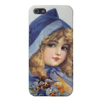 Girl in Blue Hood iPhone SE/5/5s Case
