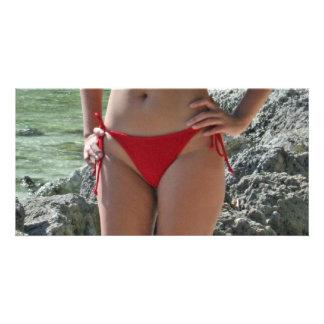 Girl in Boracay Photo Card