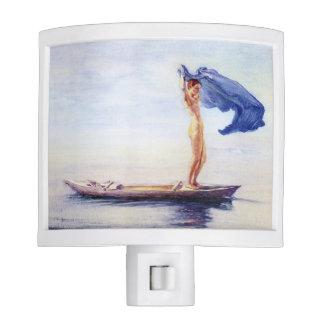 'Girl in Bow of Canoe' - John La Farge Night Light