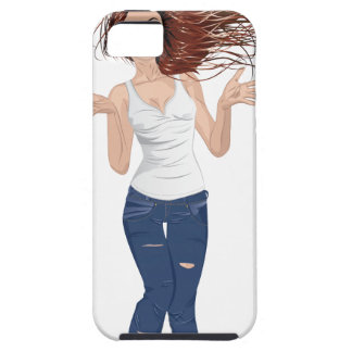 Girl in Casual Style 2 iPhone SE/5/5s Case