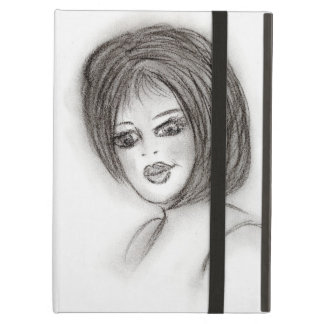 Girl in Charcoal iPad Air Cases