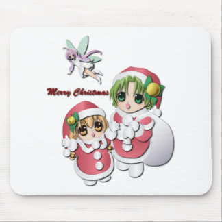 Girl in Christmas Mousepads