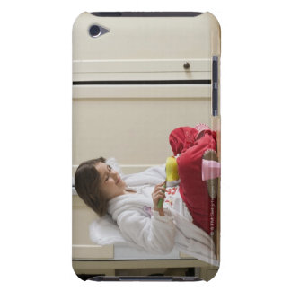 Girl in costume eating cereal iPod touch cover