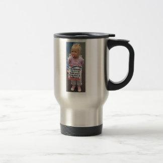 Girl In Debt Owns Only Doll House, Left-handed 15 Oz Stainless Steel Travel Mug