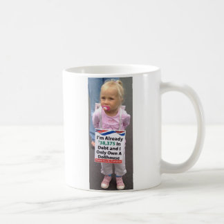 Girl In Debt Owns Only Doll House, Left-handed Classic White Coffee Mug