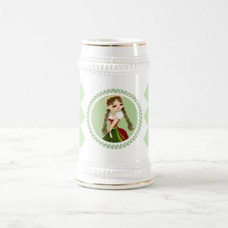 Girl in Dirndl Beer Stein