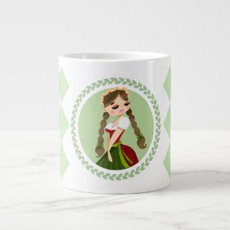 Girl in Dirndl Giant Coffee Mug