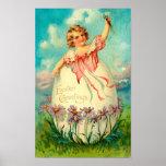 Girl In Egg Poster