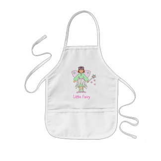 Girl in Fairy Costume -- Green and Pink Kids' Apron