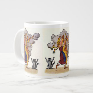 Girl in Flames from Struwwelpeter Extra Large Mug