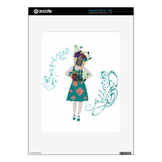 Girl in Gasmask Allergy Decals For iPad