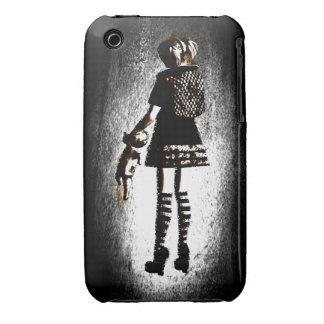 Girl in Goth iPhone 3 Case-Mate Case