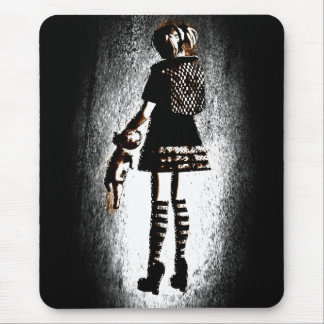 Girl in Goth Mouse Pad